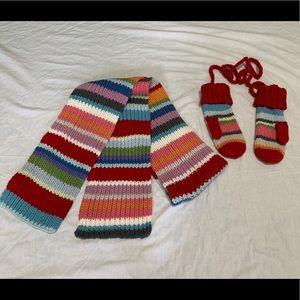 GAP Knit Wool Scarf and Mitten Set